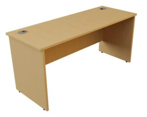 Panel end straight desk
