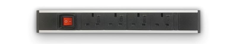 4 x UK Power + Switch (UPMA-4P1N)