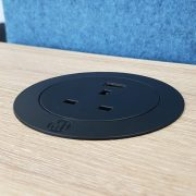 Metalicon Solo Circular In-Desk Power Module Black_In Amber Oak Desk (1)