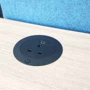 Metalicon Solo Circular In-Desk Power Module Black_In Amber Oak Desk (9)