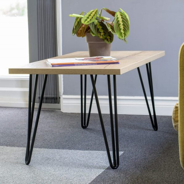 hairpin frame coffee table
