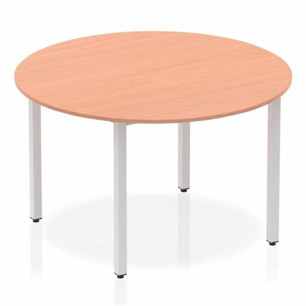 Beech Circular Box Frame Table
