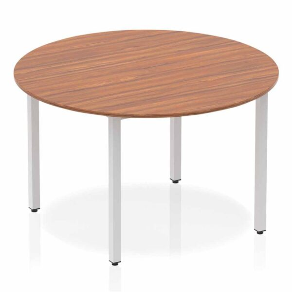 Walnut Circular Box Frame Table