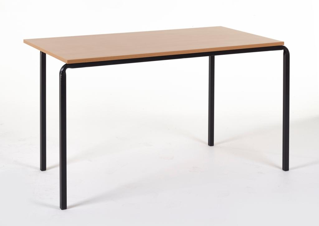 Stackable Table in grey no trim on a black metal frame