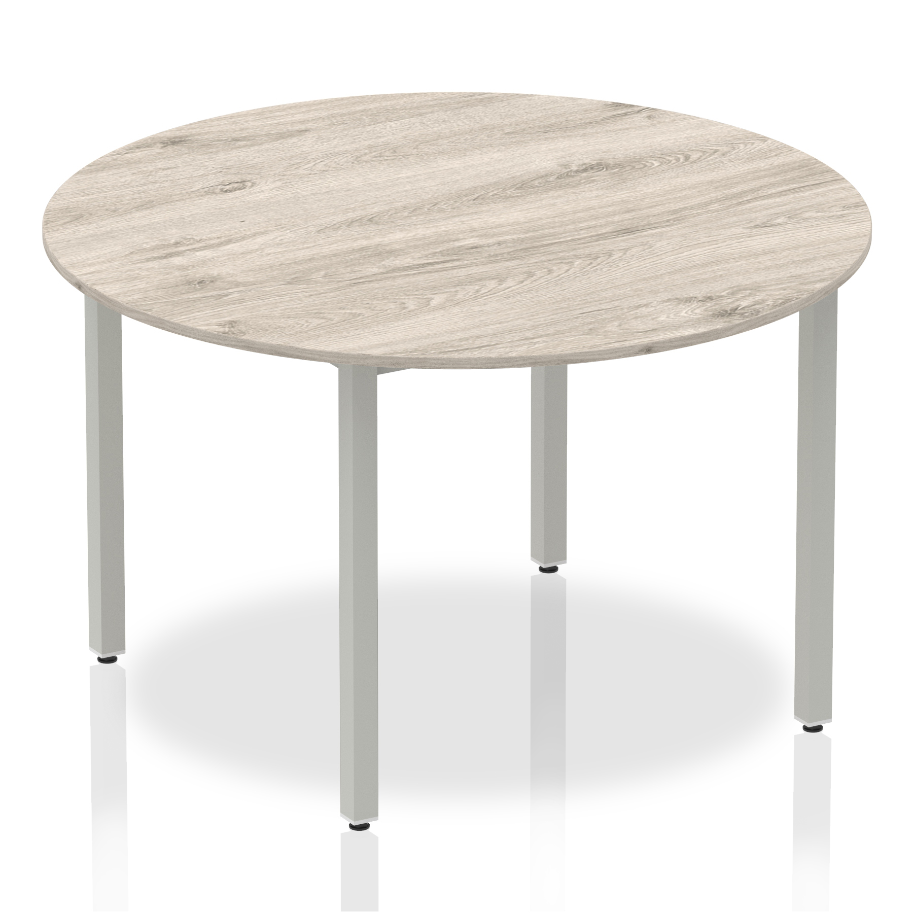 Grey Oak Circular Box Frame Table