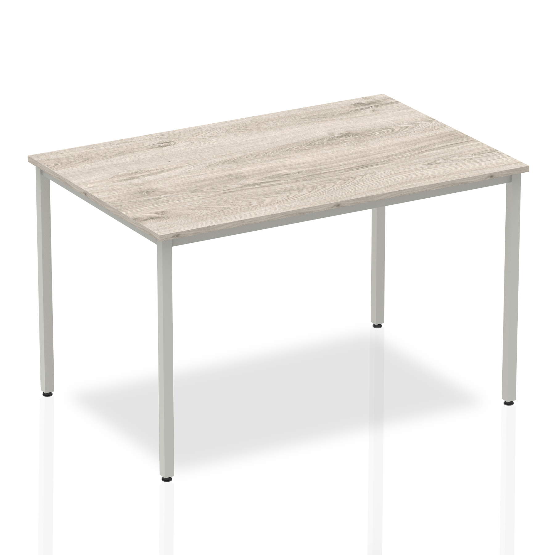 Grey Oak 1200 Rectangular Box frame table