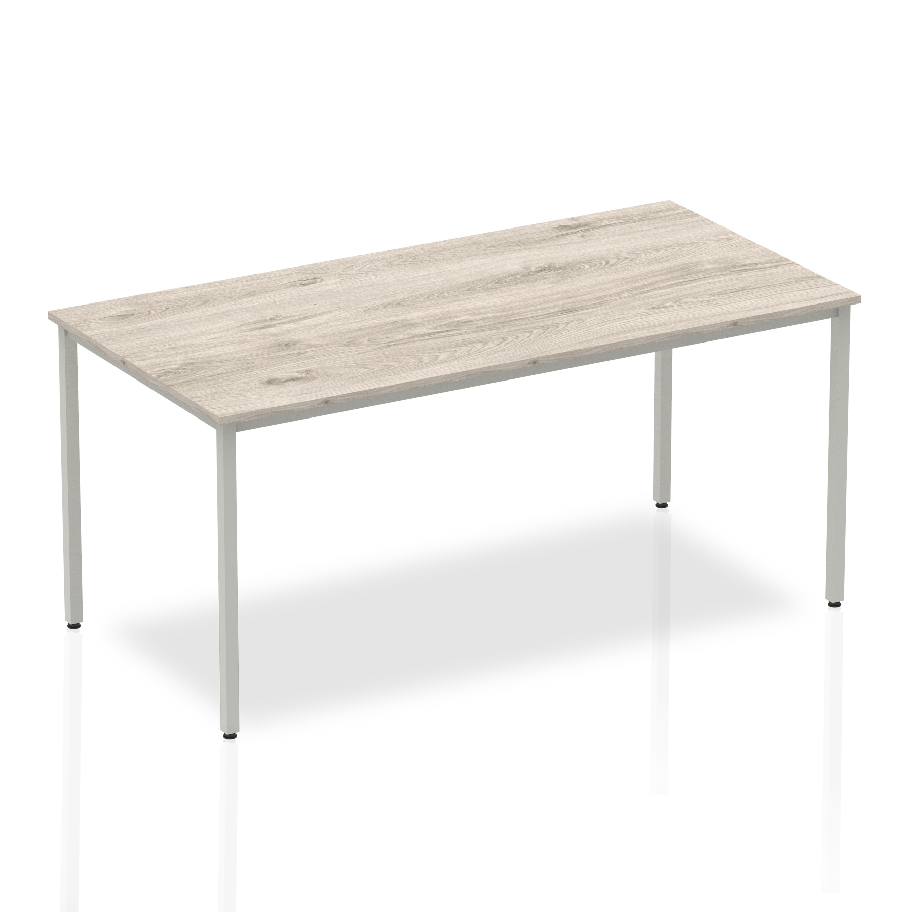 Grey Oak 1600 Rectangular Box Frame Table