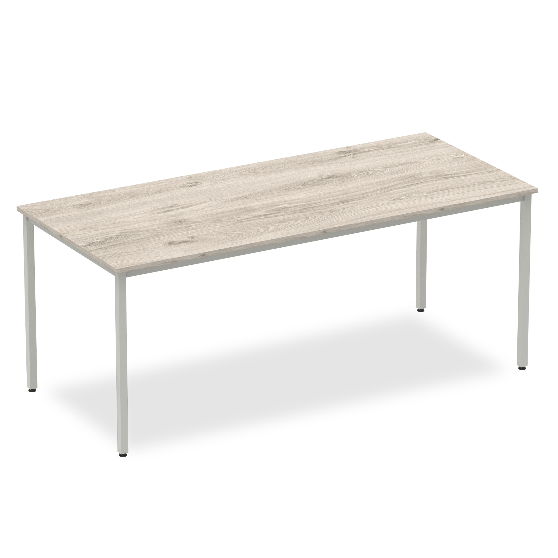 Grey Oak 1800 Rectangular Box Frame Table
