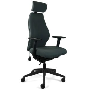 solo chair with headrest angled