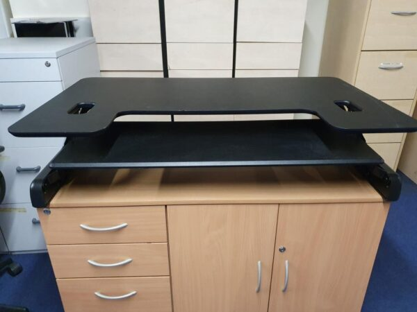 Sit stand used desk riser