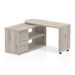 Home office desk with smart storage