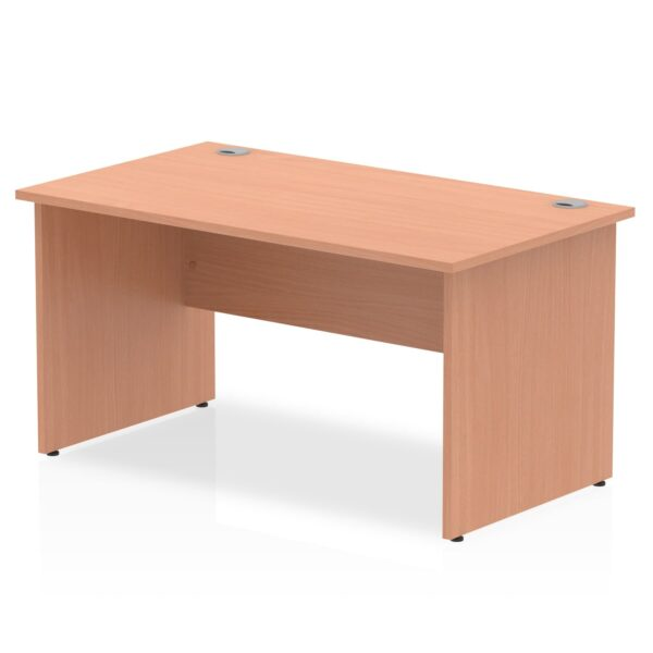 Straight Panel End Desk - Beech