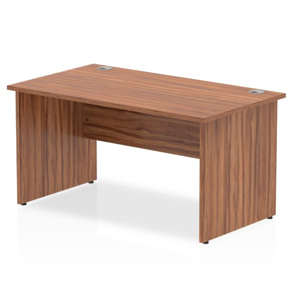 Straight Panel End Desk - Walnut