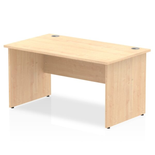 Straight Panel End Desk - Maple