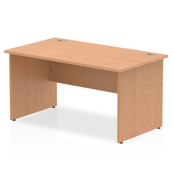 Straight Panel End Desk - Oak