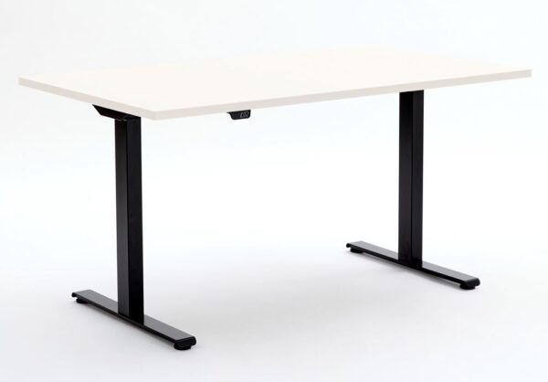 ERGO ELECTRIC in Platinum White with black frame down