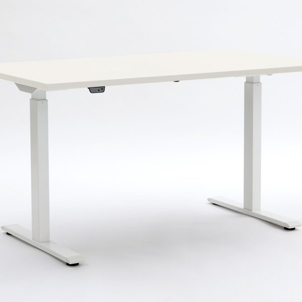 ERGO ELECTRIC in Platinum White with white legs down