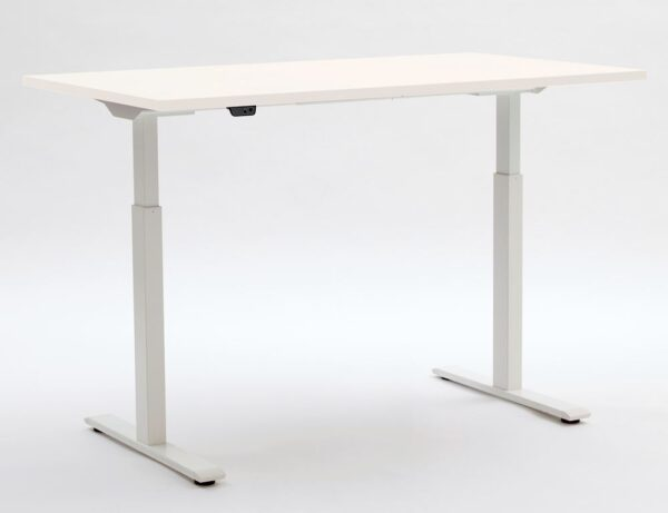 ERGO ELECTRIC in Platinum White with white legs up